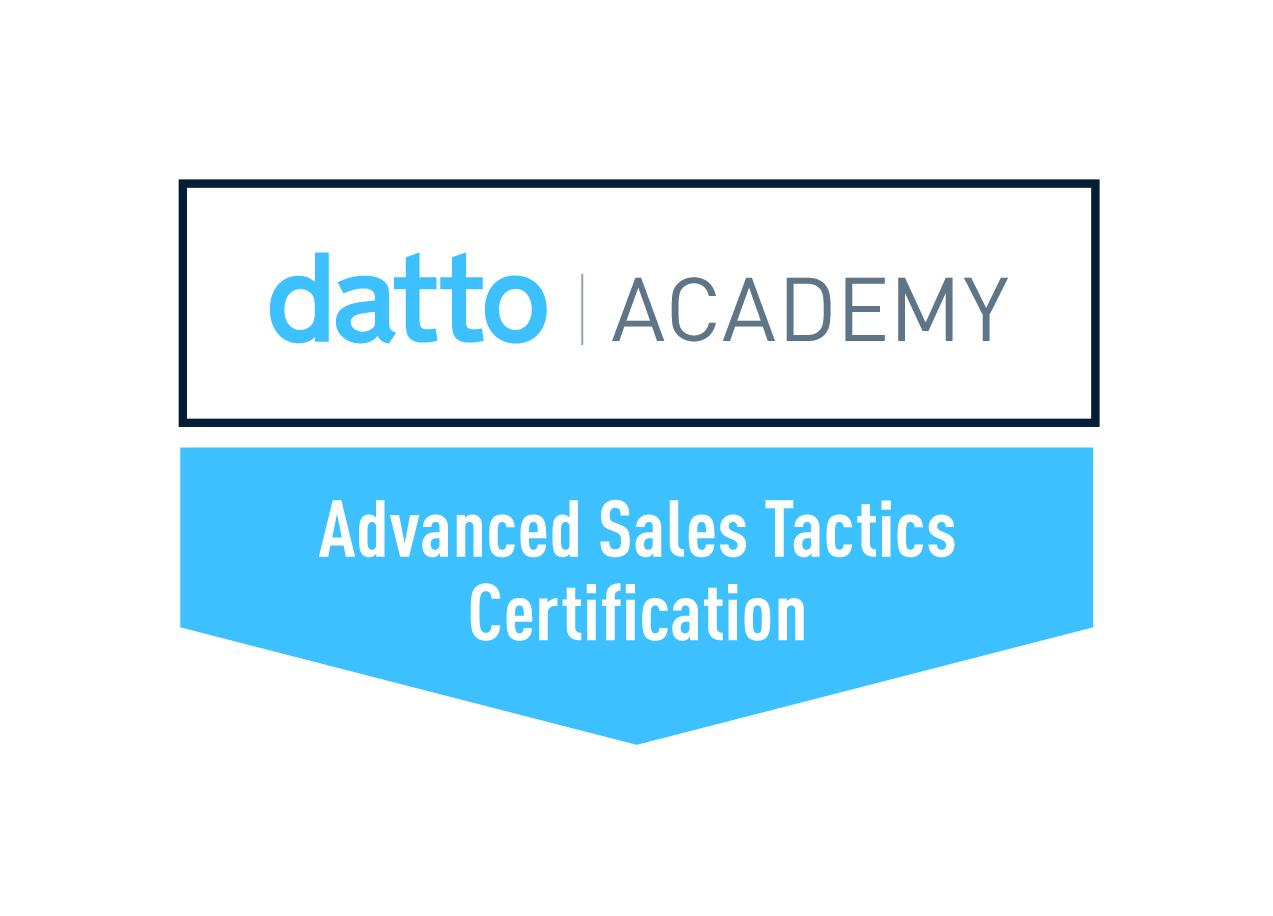 Datto Advanced Sales Tactics Certification